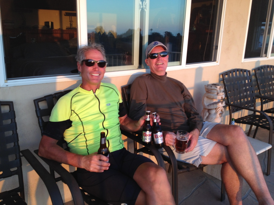 Author Jerry Holl Enjoys a Beer with his Brother Steve
