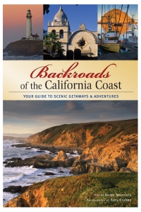 Front cover of Backroads of the California Coast, book review from Pacific Coast Highway Travel