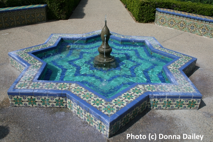 A tiled fountain in Balboa Park, San Diego, California