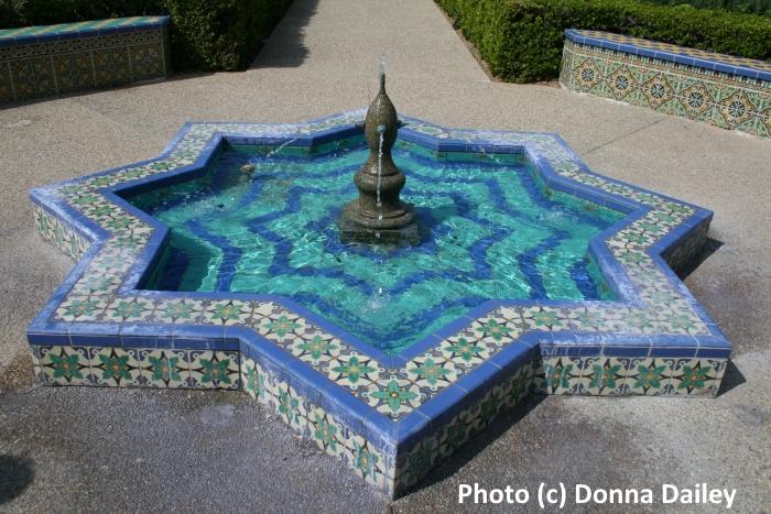 A tiled fountain in Balboa Park, San Diego, California