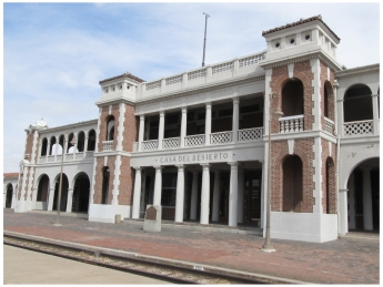 The historic Harvey House in Barstow, California, one of the best things to do in Barstow from https://www.pacific-coast-highway-travel.com/Things-to-Do-in-Barstow.html
