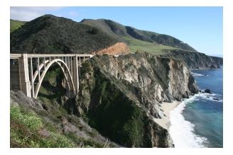 Bixby Bridge by Big Sur on the Pacific Coast Highway