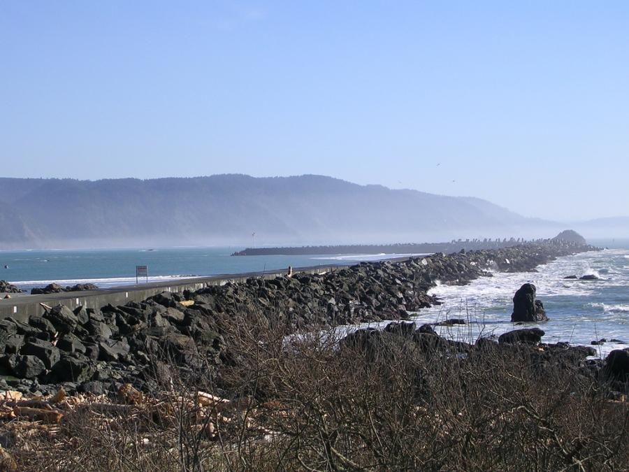 Harbor Wall in Crescent City, California
