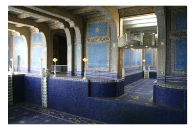 Hearst Castle, on the Pacific Coast Highway in California. Photo (c) Donna Dailey, pinned from: http://www.pacific-coast-highway-travel.com/Hearst-Castle-Tours.html