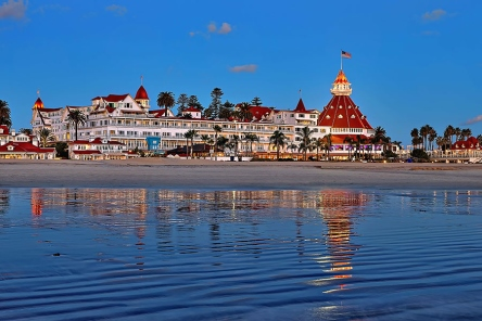 Hotel del Coronado on Coronado Island in San Diego, from http://www.pacific-coast-highway-travel.com/Where-to-Stay-in-San-Diego.html