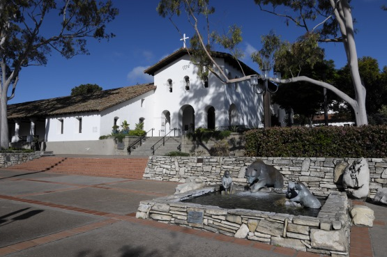 Mission San Luis Obispo de Tolosa in San Luis Obispo on the Pacific Coast Highway