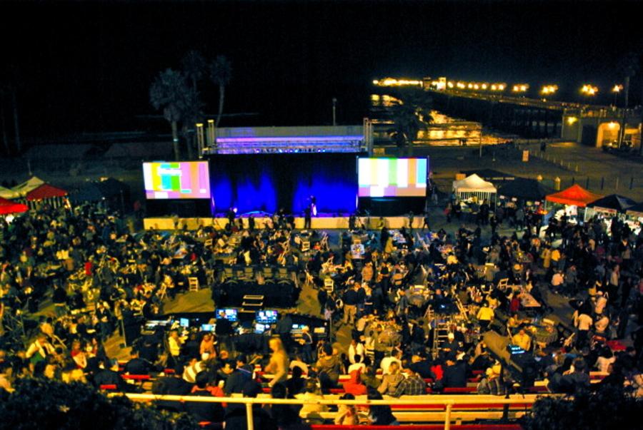 The Amphitheater near Oceanside Pier in Oceanside, southern California