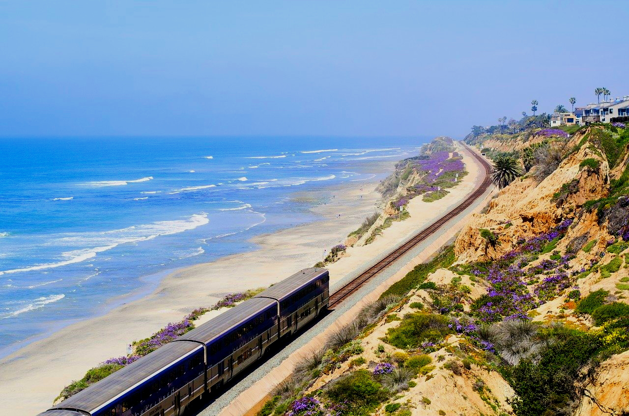 The Pacific Surfliner Train from San Luis Obispo to San Diego