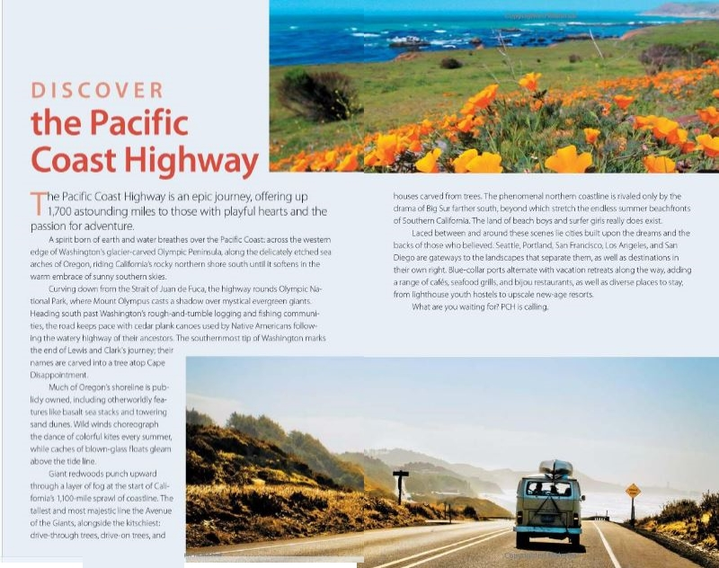 Pacific Coast Highway Travel Book