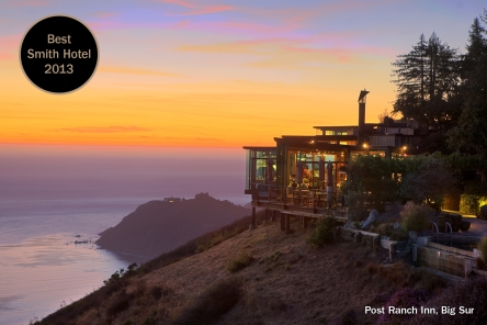 The Best Boutique Hotel In World For 2017 According To Smith Awards Is Right On Pacific Coast Highway Their Choice Was Post Ranch