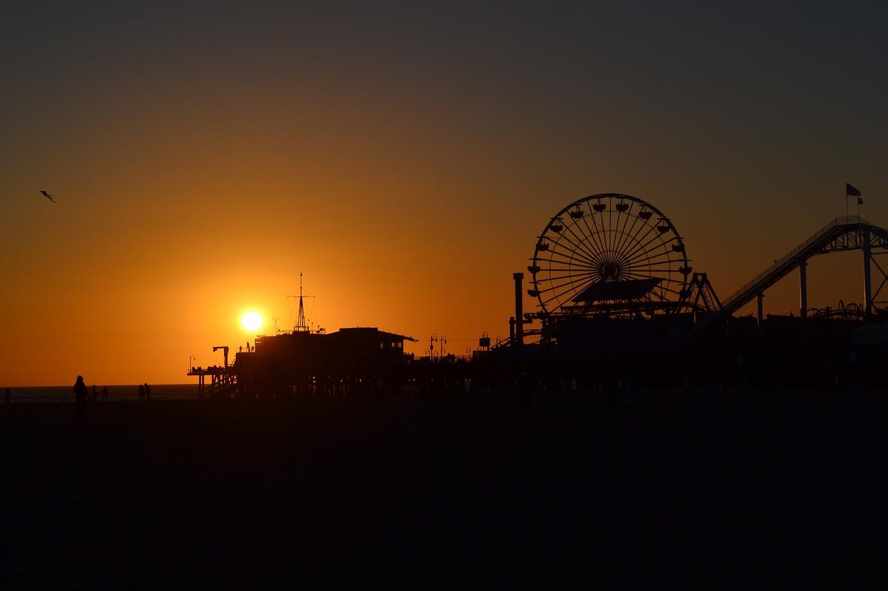 Sunset Over Santa Monica Pier