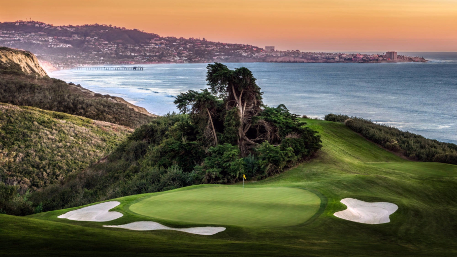 The Torrey Pines Golf Course on the Pacific Coast Highway.