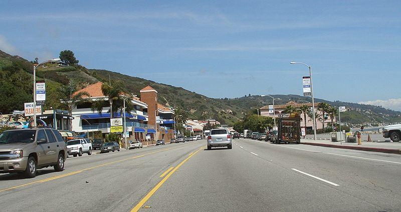 The Pacific Coast Highway runs right through Malibu in California