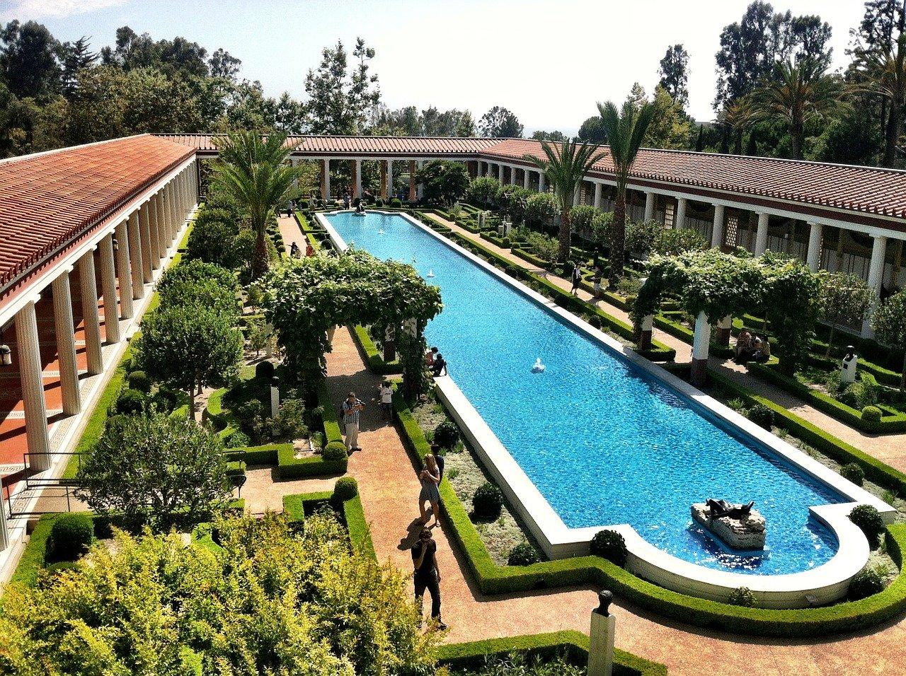 The Getty Villa in Malibu in California