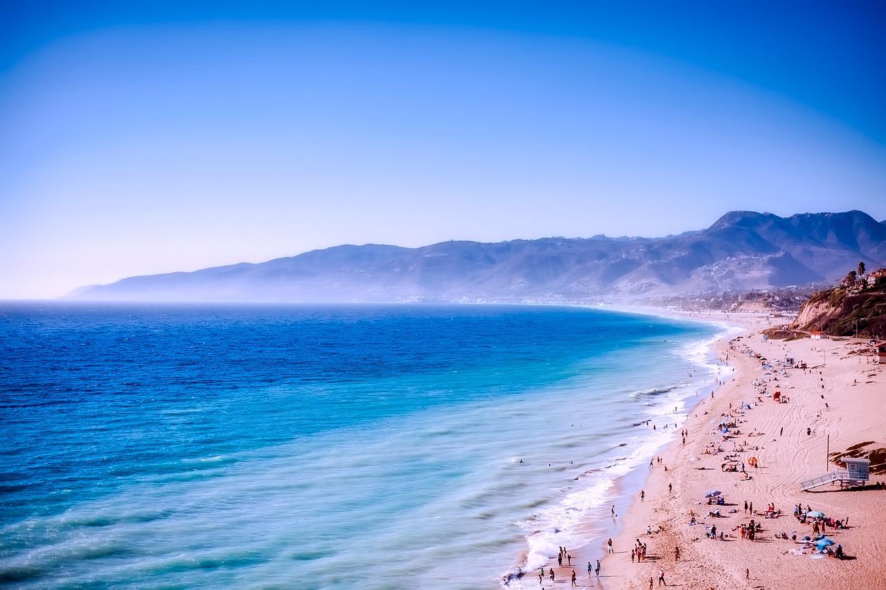 The beaches at Malibu, California