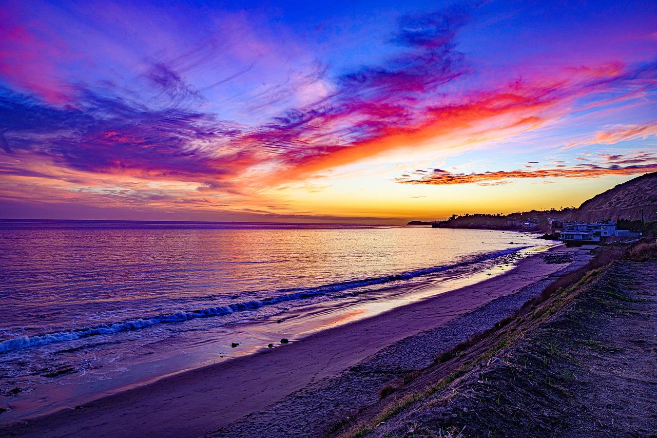 Sunset in Malibu California