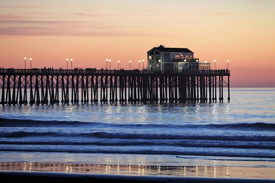Oceanside Pier in Oceanside, southern California
