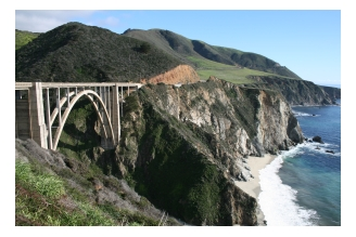 Bixby Bridge by Big Sur on the Pacific Coast Highway