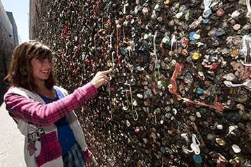 Bubblegum Alley in San Luis Obispo on the Pacific Coast Highway