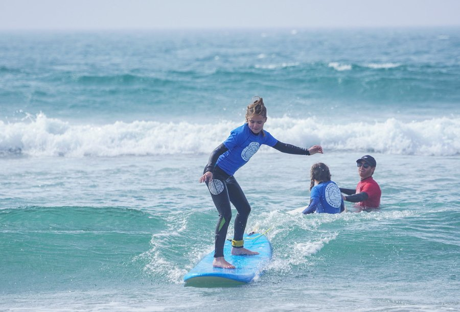 Learning to Surf in Carlsbad, California