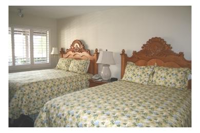 Our room at the Franciscan Inn, Santa Barbara