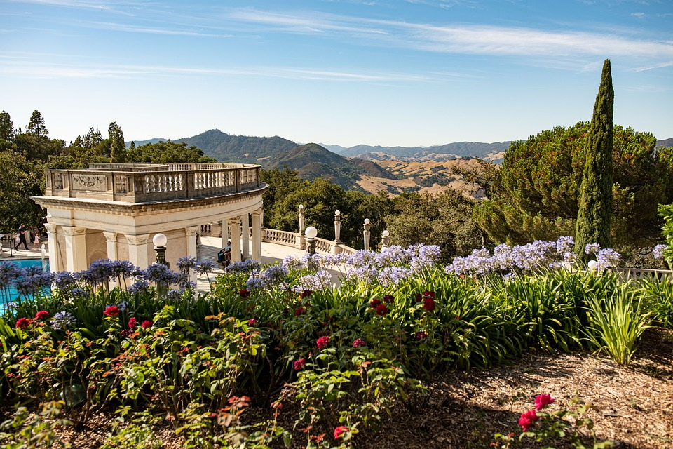 The view from Hearst Castle