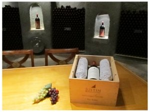 Wine tasting tour at JUSTIN Vineyards in Paso Robles, photo (c) Donna Dailey from https://www.pacific-coast-highway-travel.com/Paso-Robles-Wine-Tours.html