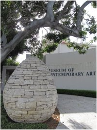 Andy Goldsworthy sculpture in the sculpture garden at La Jolla's Museum of Contemporary Art. Photo (c) Donna Dailey
