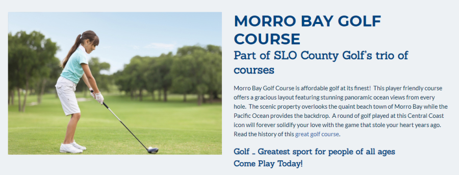 Morro Bay Golf Course on the Pacific Coast Highway.