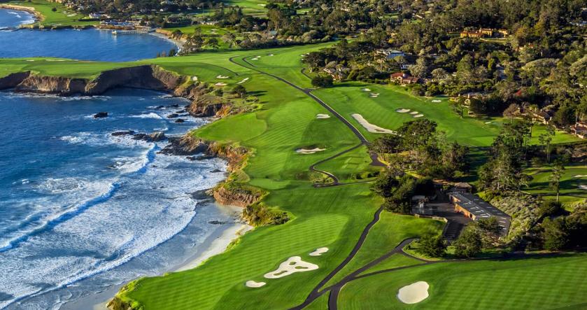 Pebble Beach Golf Links on the Pacific Coast Highway.