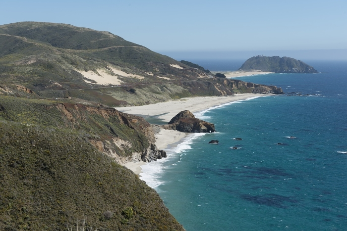 The California Coast on the Pacific Coast Highway between San Francisco and San Diego