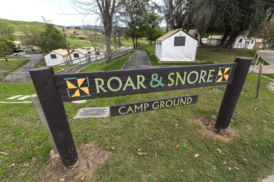 Roar and Snore Campground at the San Diego Zoo Safari Park