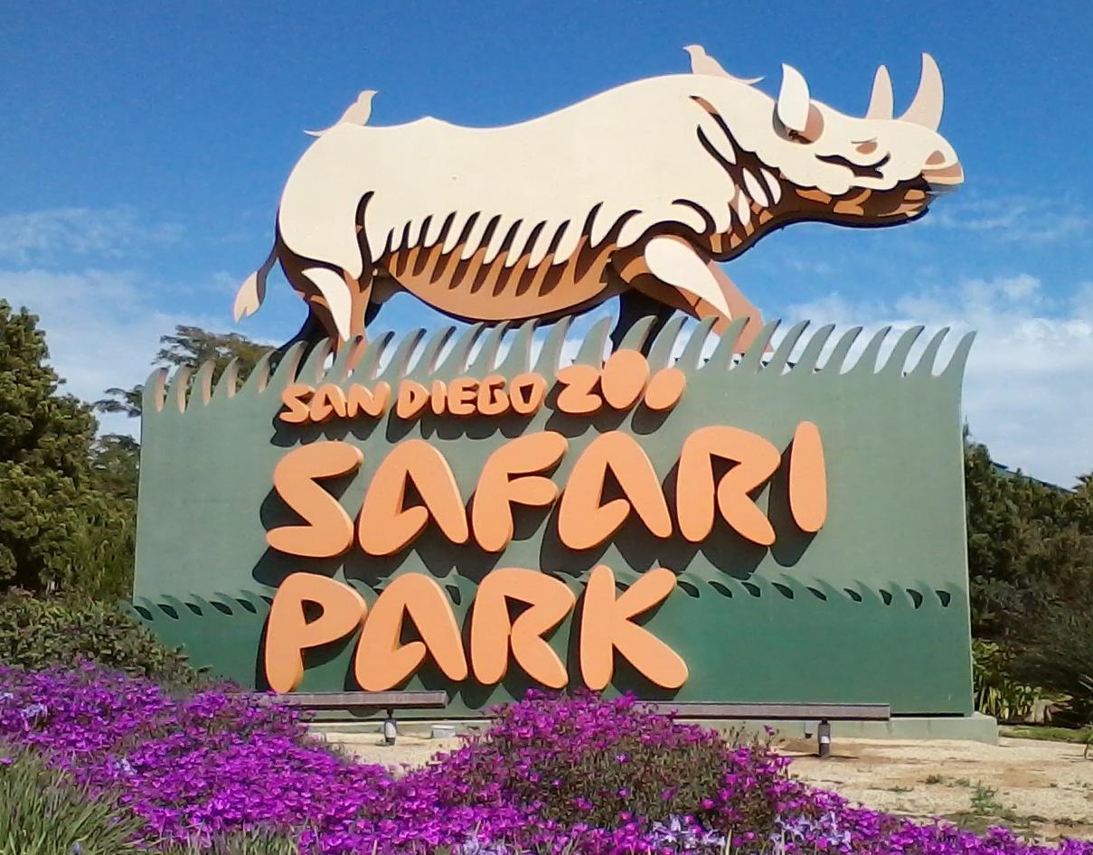 San Diego Zoo Safari Park Entrance Sign