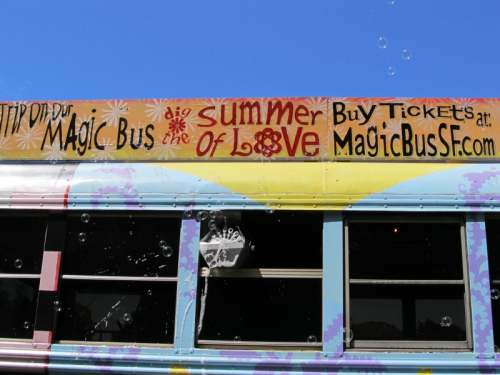 Take a trip on the Magic Bus on a San Francisco Music Tour, photo (c) Donna Dailey, pinned from https://www.pacific-coast-highway-travel.com/San-Francisco-Music-Tour.html