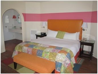 Santa Barbara Beachfront Hotel: Bedroom at the Oceana