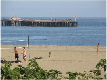 Beach View from the Oceana, a Santa Barbara beachfront hotel