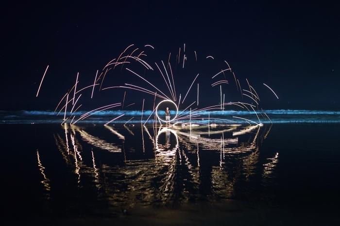 Fireworks in Santa Monica