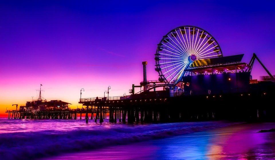 Santa Monica Pier at Night