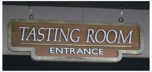 JUSTIN Vineyards Tasting Room sign, photo (c) Donna Dailey from http://www.pacific-coast-highway-travel.com/Paso-Robles-Wine-Tours.html