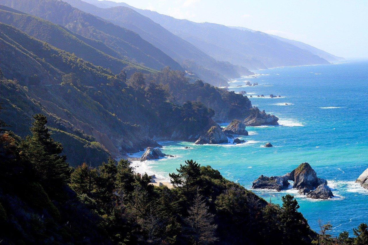The California coast of Big Sur