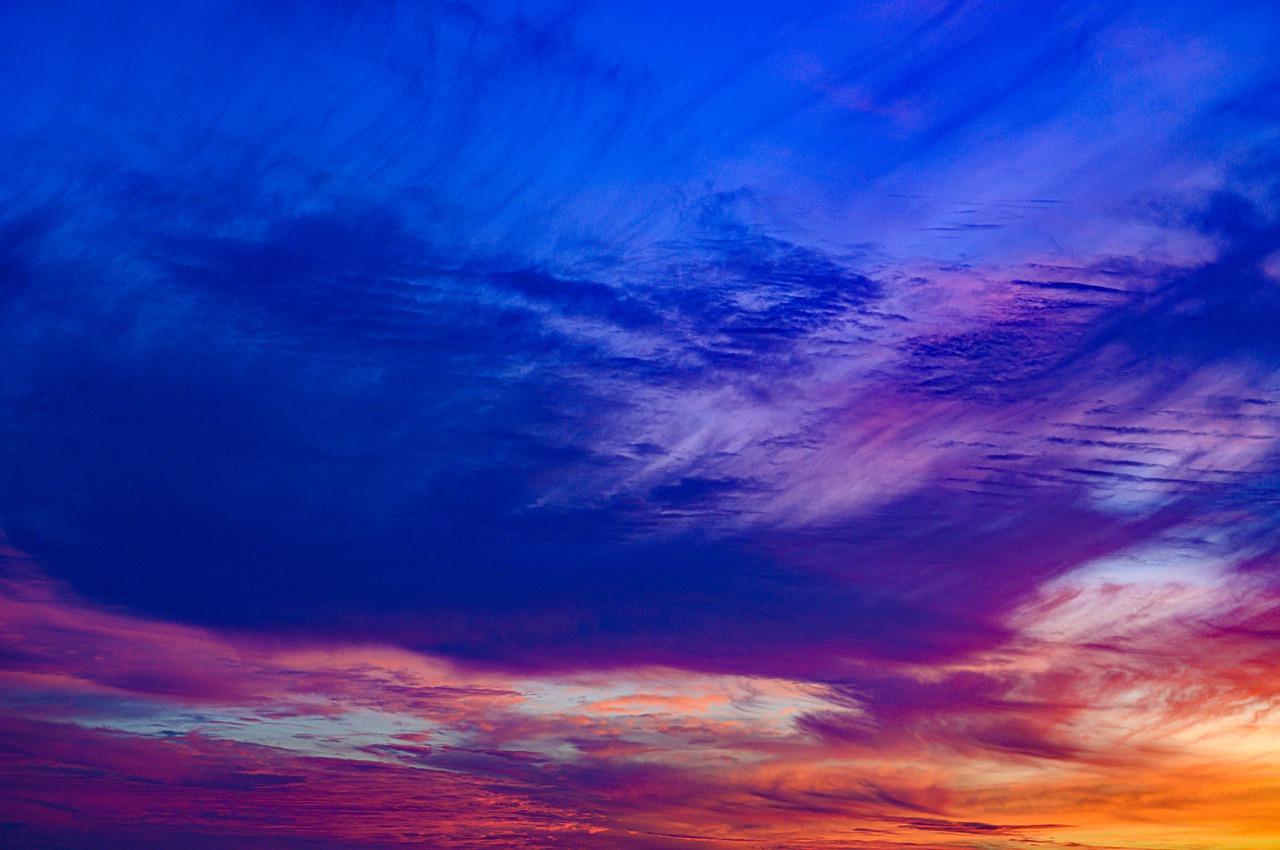 Clouds at sunset in Malibu, California